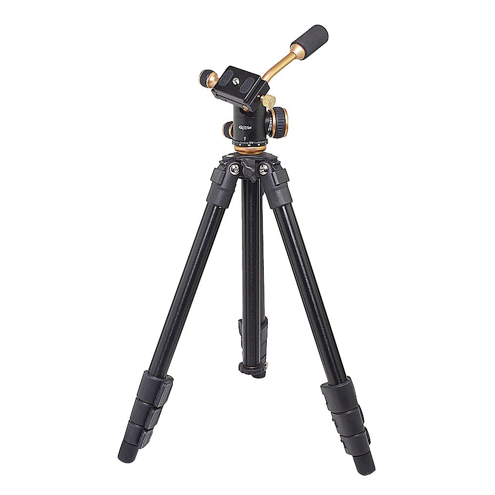 """Riqiorod 50"""" Lightweight Aluminum Alloy Professional Portable Camera Tripod Phone Tripod with 1/4"""" Screw 360 Panoramic Ball Head for Smartphone iPho by Riqiorod (Image #1)"""