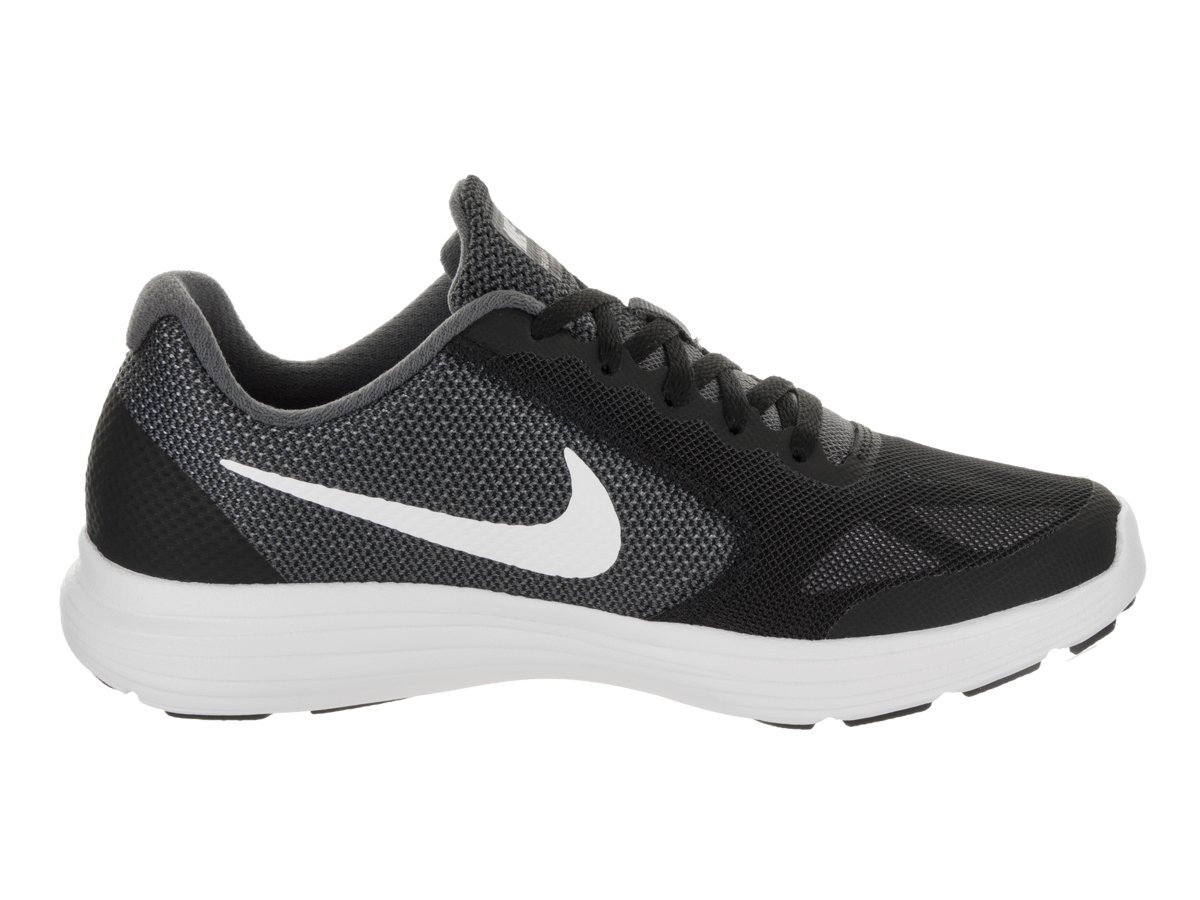 Nike Kids Revolution 3 (GS) Dark Grey/White/Black Running Shoe 5.5 Kids US by Nike (Image #5)