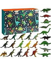 Sakmilu Christmas Advent Calendar - 2021 Dinosaurs Christmas Countdown Calendar 24 Pcs Dino Toy with Map Dinosaurs Adventure For 24 Days Surprise