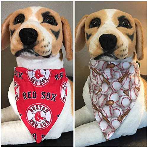 MLB Reversible Pet Bandana Boston Red Sox Over The Collar
