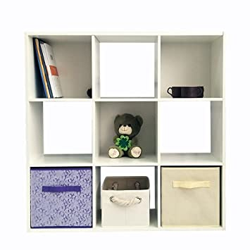 Joolihome Holz Bücherregal 6/8/9 Cubes Regalen Rack Raumteiler Regal ...