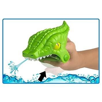 ColorBaby - Lanzador de agua Aqua Kidz con diseño de cocodrilo, color verde (53798): Amazon.es: Juguetes y juegos