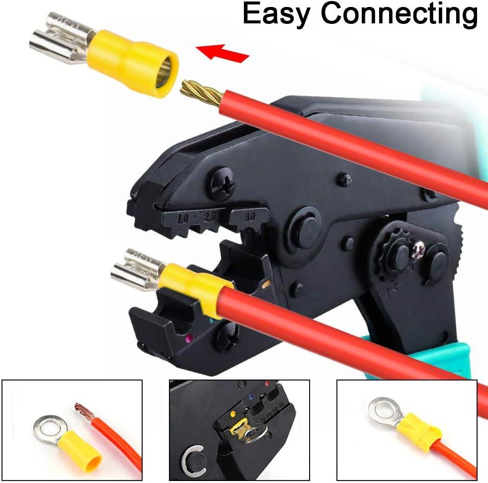 480pcs Cosse Electriques,DIAOPROTECT Cosses Electriques pour Voiture,Connecteur Electrique,Assortiment Connecteurs Iso/ées sertissage