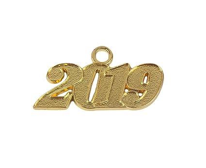 216ce54929a Graduation Alloy Gold 2019 Year Charm for Graduation Tassel