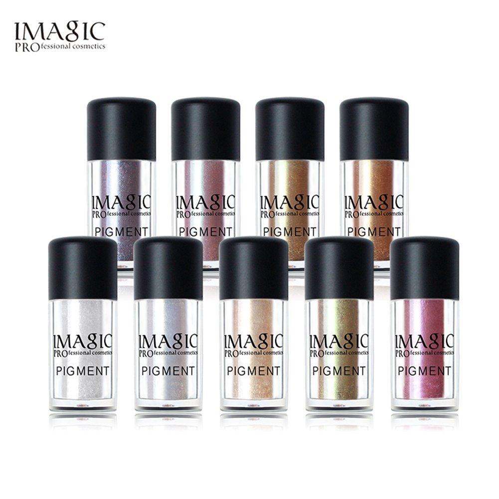 IMAGIC Polvo Sombras de Ojos de Color de Diamantes Sombras de Ojos Pigmentos Maquillaje de Polvo de Perlas (3#) Samber