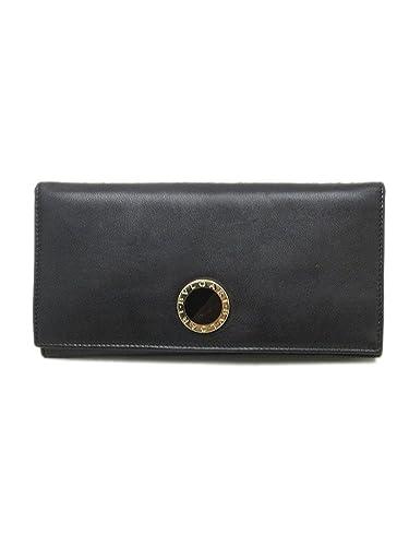 609dd2894dd2 Amazon.co.jp: BVLGARI(ブルガリ) コローレ 長財布 ブラック 黒 レザー ...