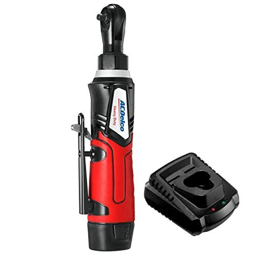 G12 Cordless 1 4 Ratchet Wrench 30 ft-lbs 240 Rpm Tool Set with 1 Li-ion Batteries – Regular Charger, ARW1207