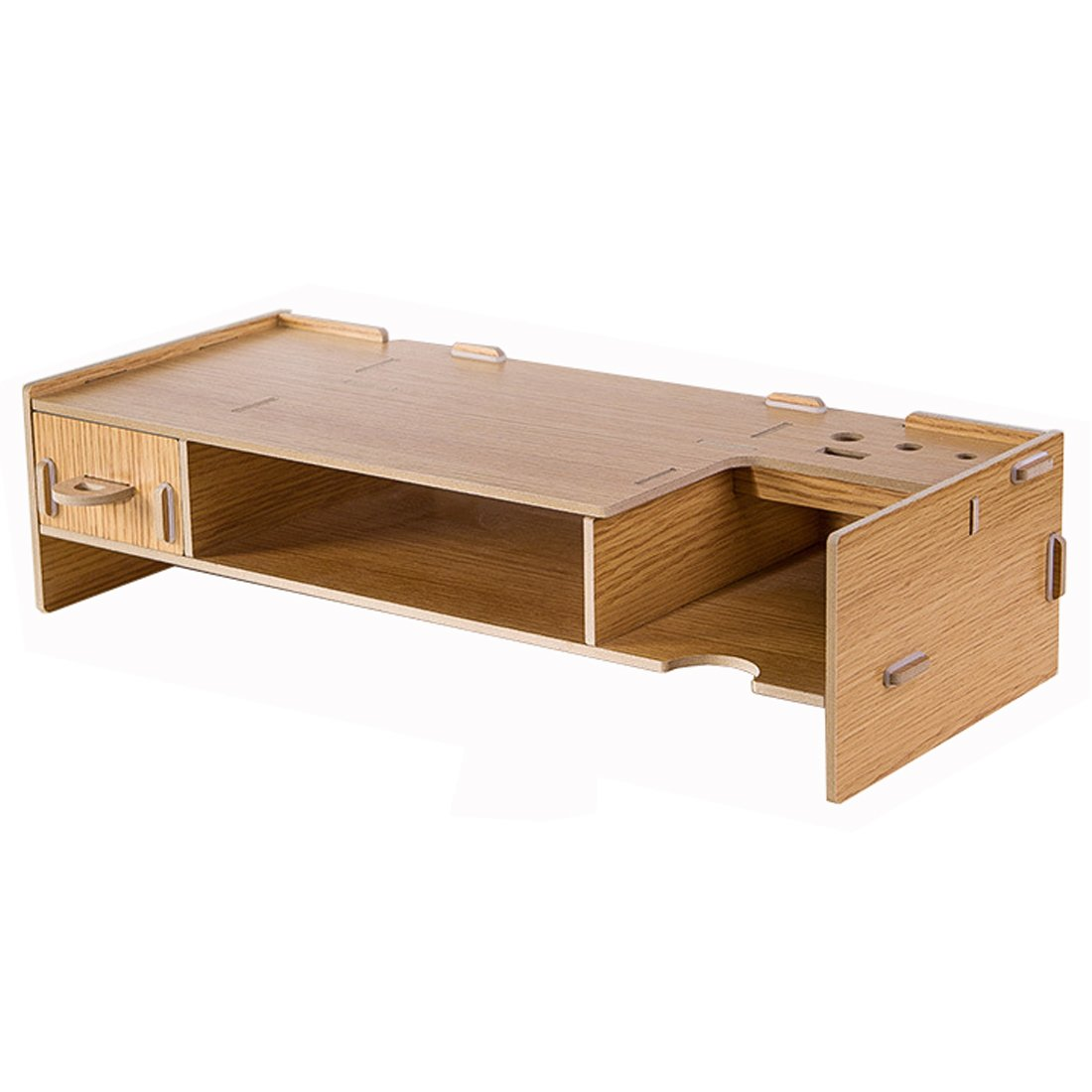 amazon com flasheagle monitor stand wooden organizer office rh amazon com