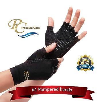Amazon.com: Guantes de artritis de compresión de cobre ...
