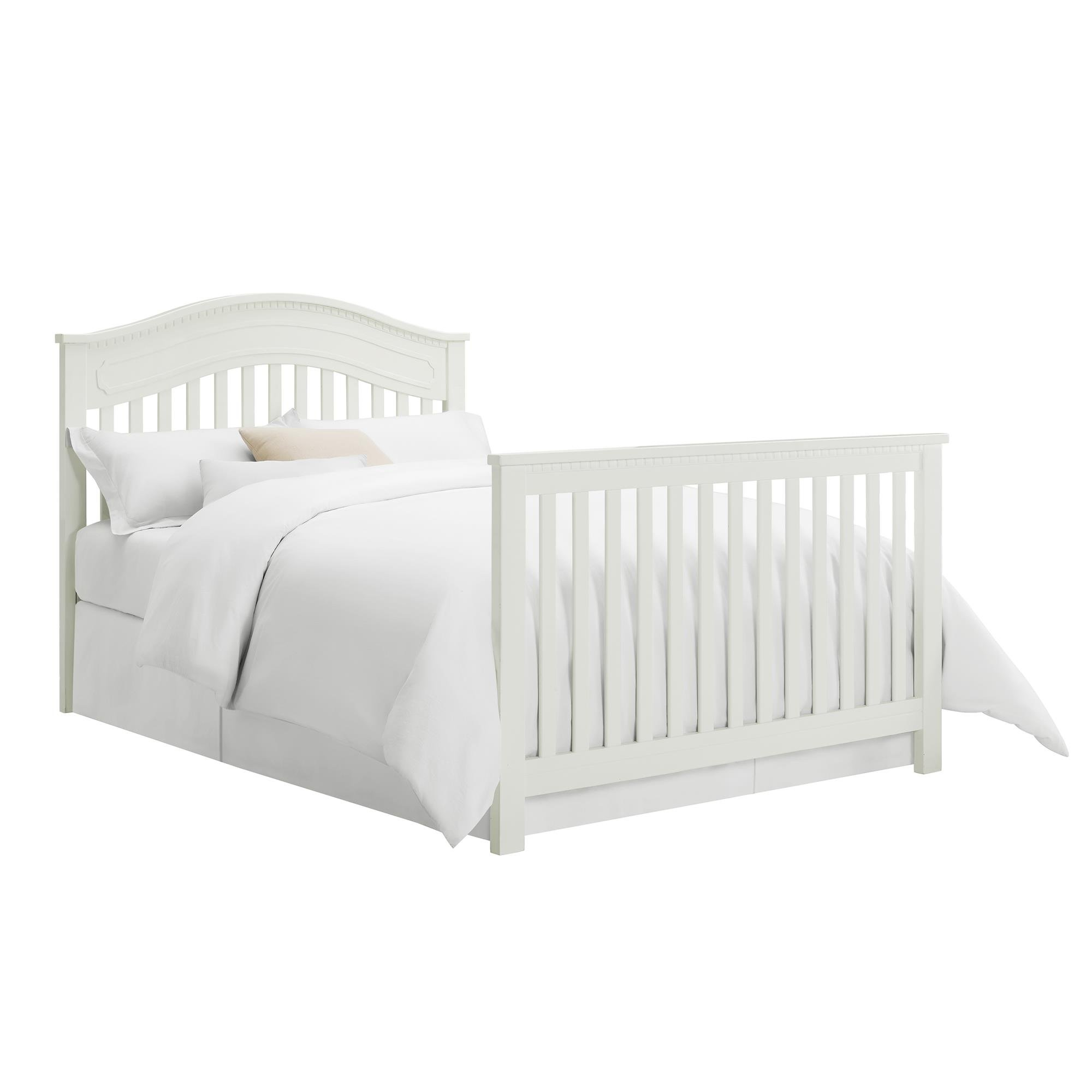 Full Size Conversion Kit Bed Rails for Baby Relax Edgemont, Miles & Rivers Cribs by Dorel Living - White by CC KITS (Image #6)