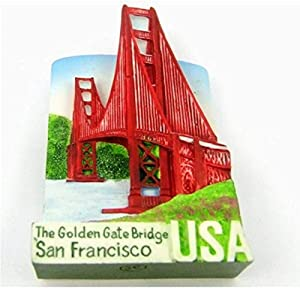 The Golden Gate Bridge SAN FRANCISCO Resin 3D fridge Refrigerator Thai Magnet Hand Made Craft. by Thai MCnets