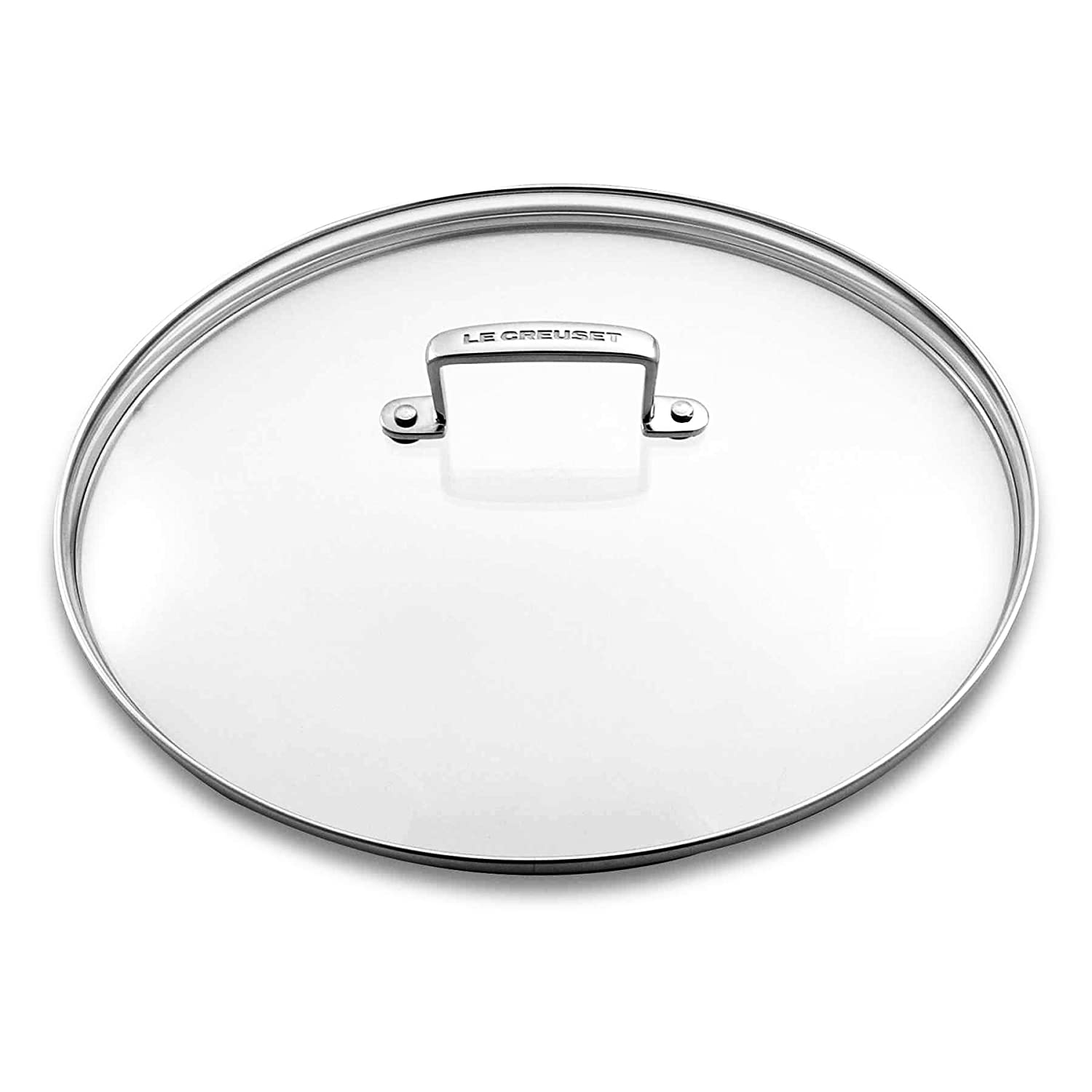 Le Creuset Les Forgees Glass lid diam.24 cm Transparent