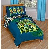 Teenage Mutant Ninja Turtles in Your Face! 4 Piece Microfiber Toddler Bed Set