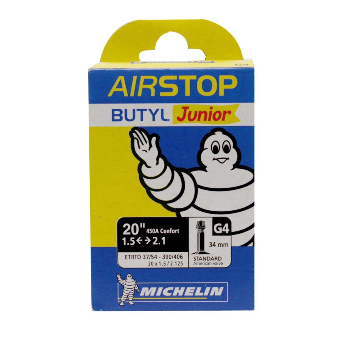 Michelin AIRSTOP BTT JUNIOR - Camara de bicicleta 37/54-390/406 Standard 34 mm Cicli Bonin_091082