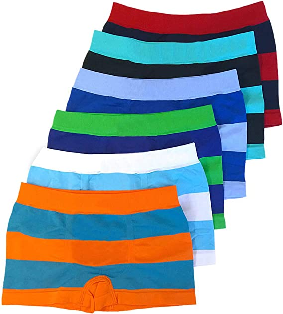 ToBeInStyle Boys Pack of 6 Seamless Boxer Briefs