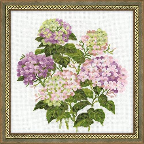 RIOLIS 1246 - Garden Hydrangea - Counted Cross Stitch Kit 13¾