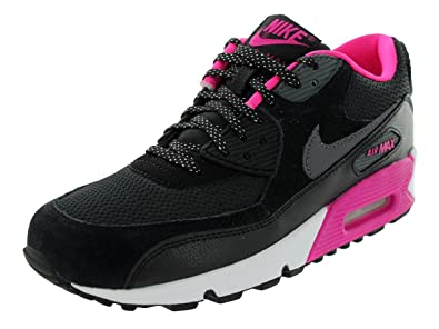 new style 1879c 52290 Nike Air Max 90 2007 (GS) Girls Running Shoes 345017-017 Black 7