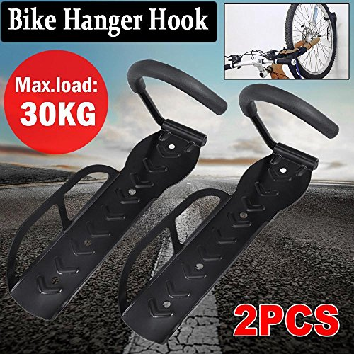 Go2buy Wall Mounted Bike Rack Stand Bicycle Hook Holder Hanger Bike Storage System for Garage/Shed 2 PCS