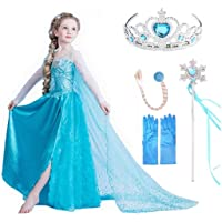 VanStar Snow Queen Dress Girls Party Cosplay Girl Clothing Snow Queen Birthday Princess Dress Kids Costume Blue Costume…