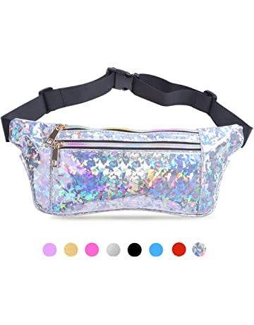 ca9f205bafb1 Suxman Holographic Fanny Pack for Women and Men