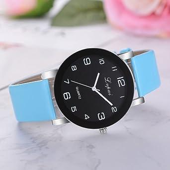 Yvelands Liquidación Reloj de Pulsera analógico de Cuarzo de Cuero para Mujer de Lvpai (tamaño Libre,Amarillo): Amazon.es: Ropa y accesorios