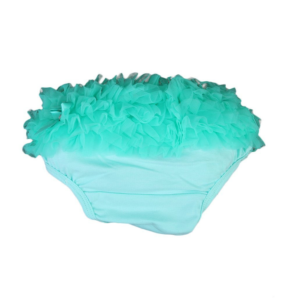 SODIAL(R) Bebe Fille Volants Culottes Culotte bouffante Couche Couverture S (Vert aquatique ) 035481A2