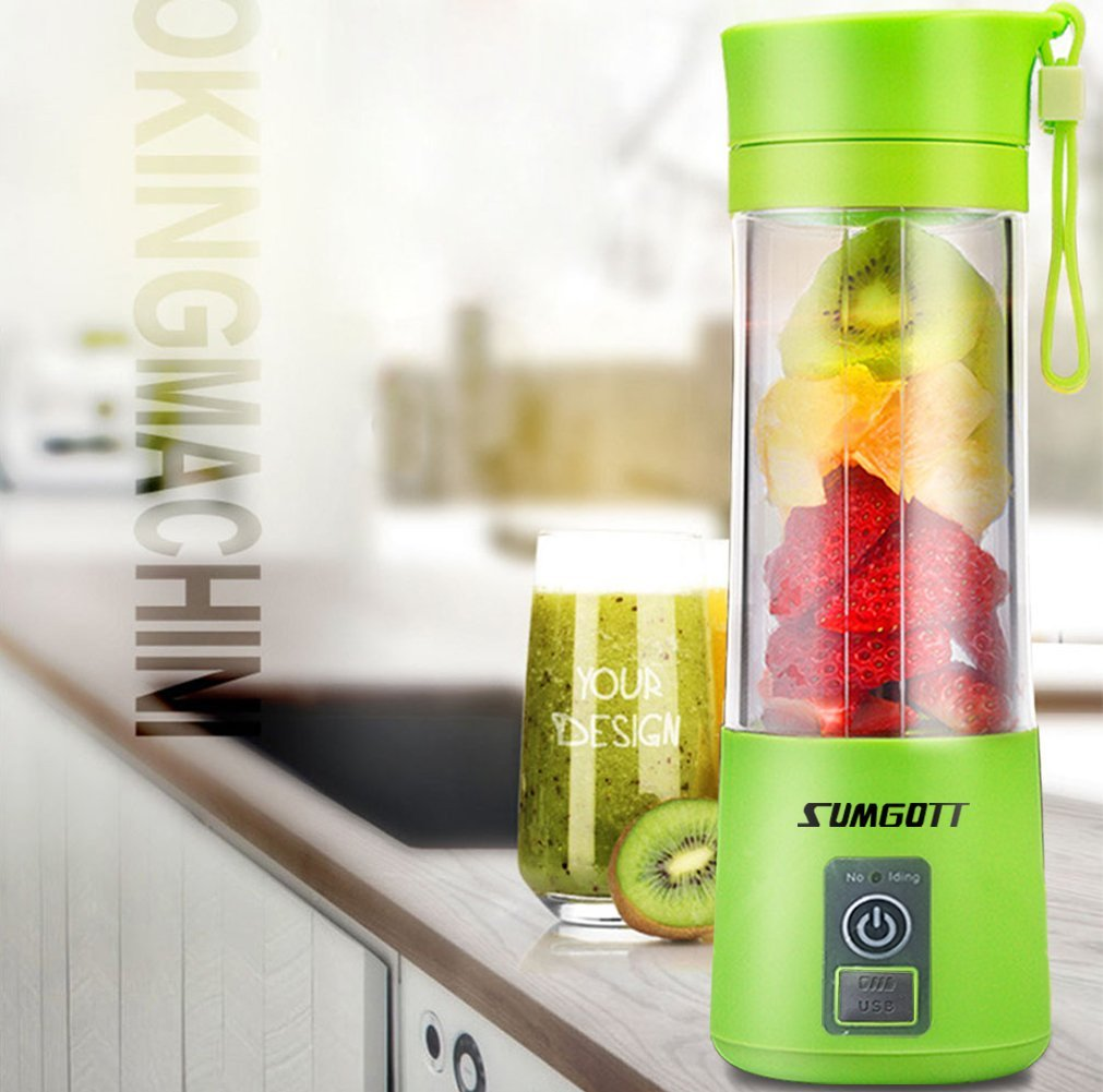 Portable Blender USB Juicer Cup - SUMGOTT Juicer Machine with USB Charger Fruit Mixing Machine Personal Size Rechargeable Juice Blender and Mixer by SUMGOTT (Image #1)