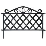 Giardini del Re Steccato ABS, Nero, 47 x 36 x 2 cm