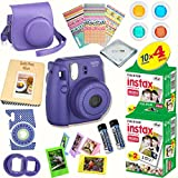 Fujifilm Instax Mini 8 (Grape) Deluxe kit bundle Includes: - Instant camera with Instax mini 8 instant films (40 pack) - A MASSIVE DELUXE BUNDLE