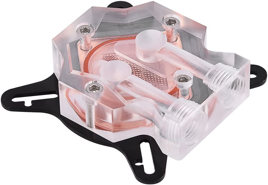 Pomya GPU Waterblock, Universal Water Cooling Block Waterblock Liquid Cooler with 40MM Copper Base for Computer PC GPU