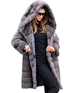 e6a305459b5293 Aofur Frauen Damen Luxus Winter Warm Parka Faux Pelz Mäntel Outwear Jacke  Overcoat Overcoat Top Kleidung