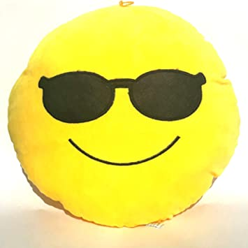 Bubbles Soft Smiley Cool Dude Pillow for Boys & Girls/Gifts 32 cm