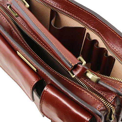Tuscany Leather Tania Borsa a mano in pelle da donna Testa di Moro Testa Di Moro Gran Venta Barata Mejor Venta Al Por Mayor Precio Increíble Venta Perfecta GtOe95k