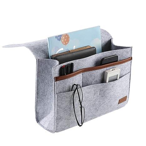 Bedside Caddy Organizer Pocket Storage Remote Control Hanging Holder Bed Sofa MP