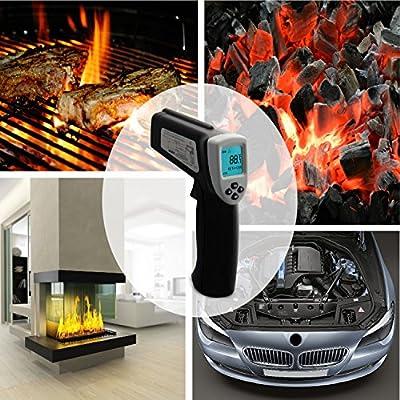 Etekcity Lasergrip 630 Dual Laser Non-contact Digital IR Infrared Thermometer Temperature Gun, Gray/Black