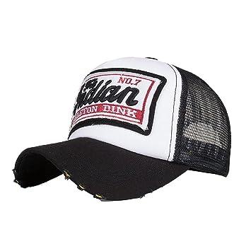 LMMVP Sombrero Gorra para Hombre Mujer Talla única Casquillo Bordado de Verano Sombreros de Malla para Casuales Sombreros Hip Hop Gorras de Béisbol (B): ...
