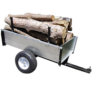 TURFMASTER-Remorque basculante en acier galvanisé spécial bois ...
