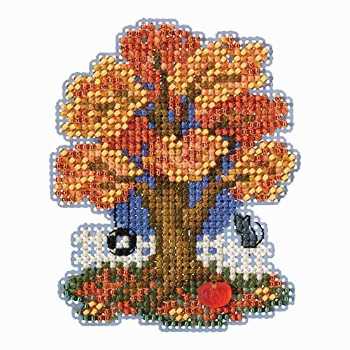 fall tree beaded counted cross