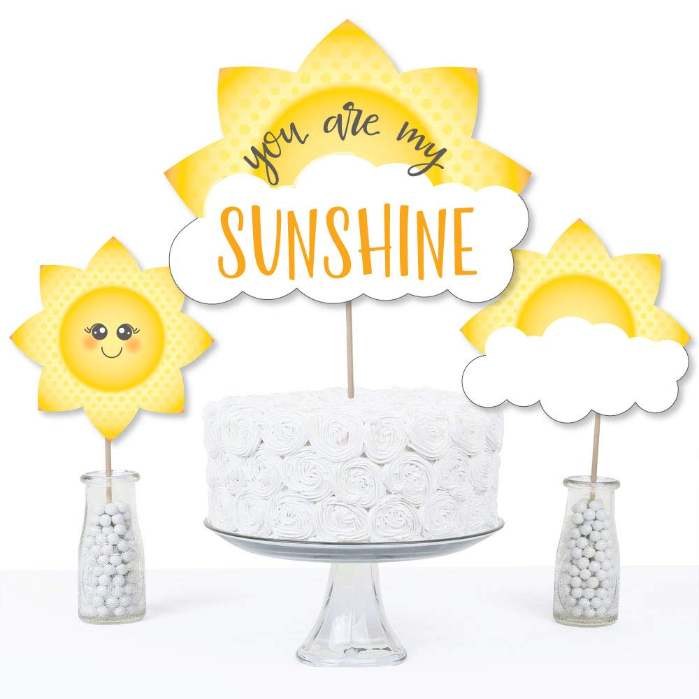 You are My Sunshine Baby Shower or Birthday Party Centerpiece Sticks Set of 15 Table Toppers