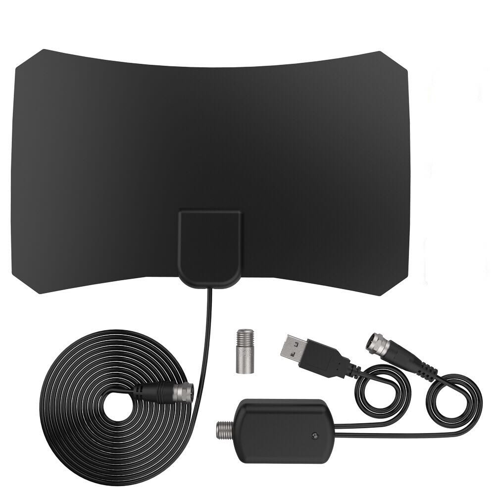 TV Antenna 2019 Newest HD Digital TV Antenna,Indoor Digital TV Antenna with 120 Miles Long Range -Support 4K 1080p /TV Antenna Amplifier