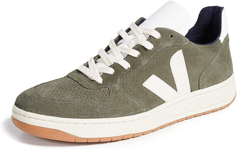 nivel Convertir Tina  Amazon.com: Veja V-10 - Zapatillas de ante para hombre: Shoes