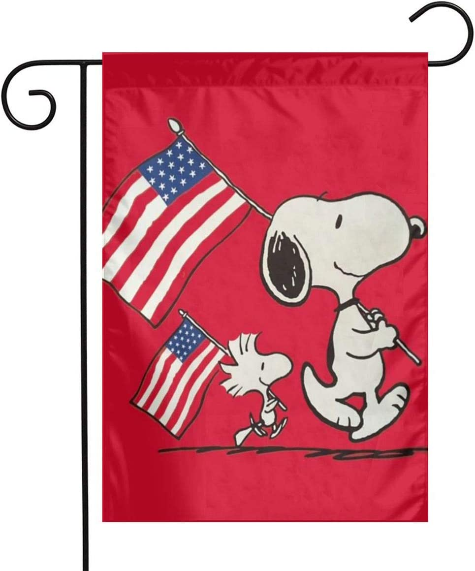 Snoopy Garden Flags for Home Outdoor/Indoor Yard Decoration,12 X 18 Inch