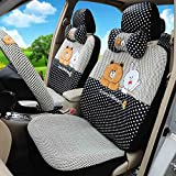 1 Set Fashion Cartoon Car Seat Covers Car Steering Wheel Cover Seat Belt Covers Hand Brake Cover