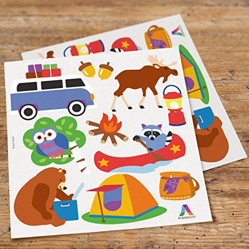 Olive Kids Camping Trip Peel and Stick Wall Decal Cut Outs ()