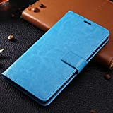 OPPO R5 case, solid color pattern wallet style case magnetic design flip folio PU Leather cover standup cover case for OPPO R5 ( Color : Blue-OPPO R5 )