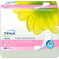 TENA Serenity Very Light Liners Regular, 44 Count (Pack of 4)