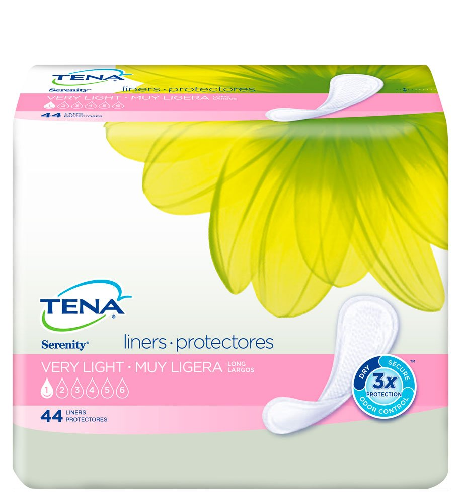 Tena Incontinence Liners for Women, Long, 44 Count (Pack of 4)
