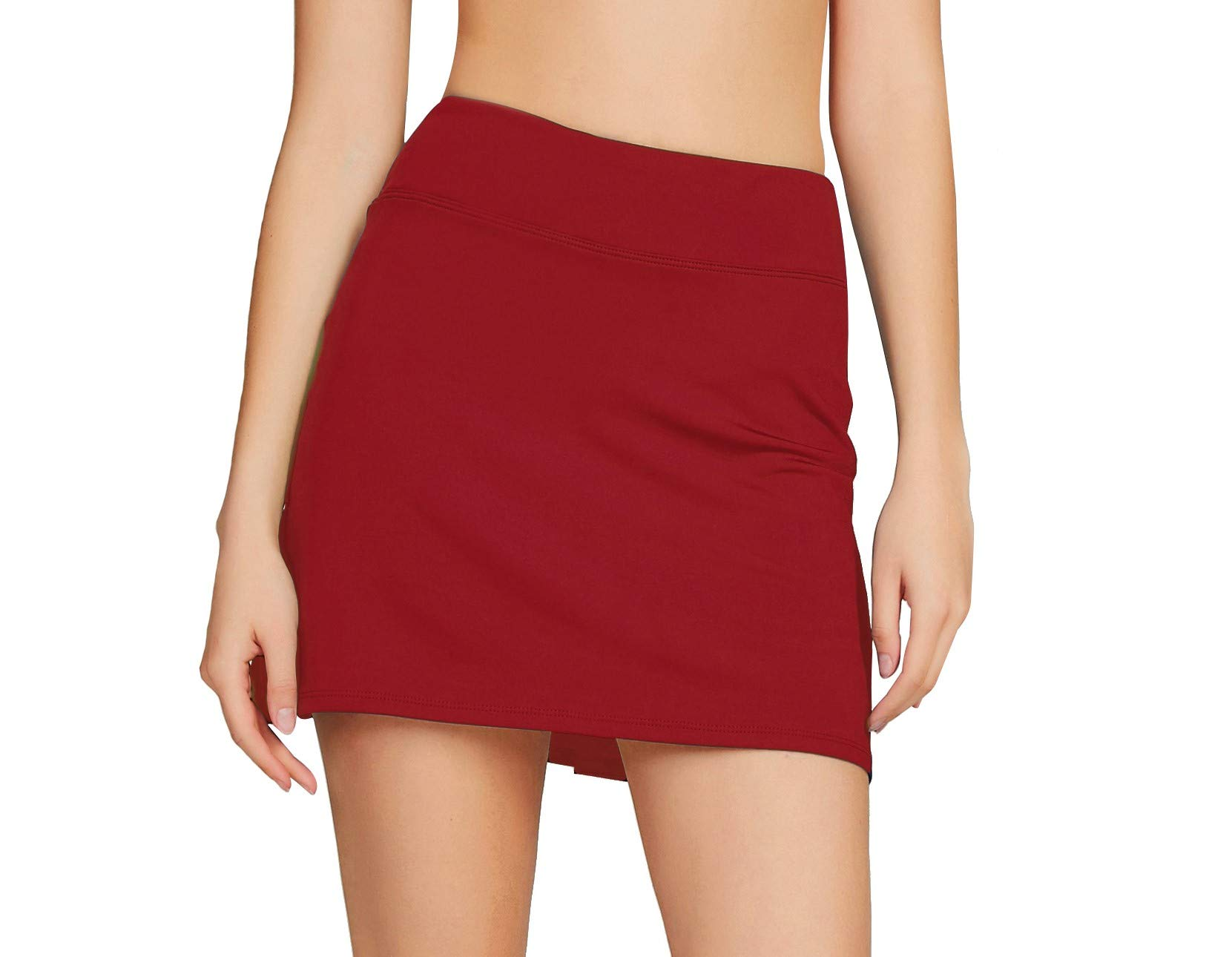 Cityoung Women's Casual Pleated Tennis Golf Skirt with Underneath Shorts Running Skorts rd XL by Cityoung