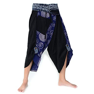 Siamrose Harem Pants Women Men Yoga Ninja Samurai Style Black Blue