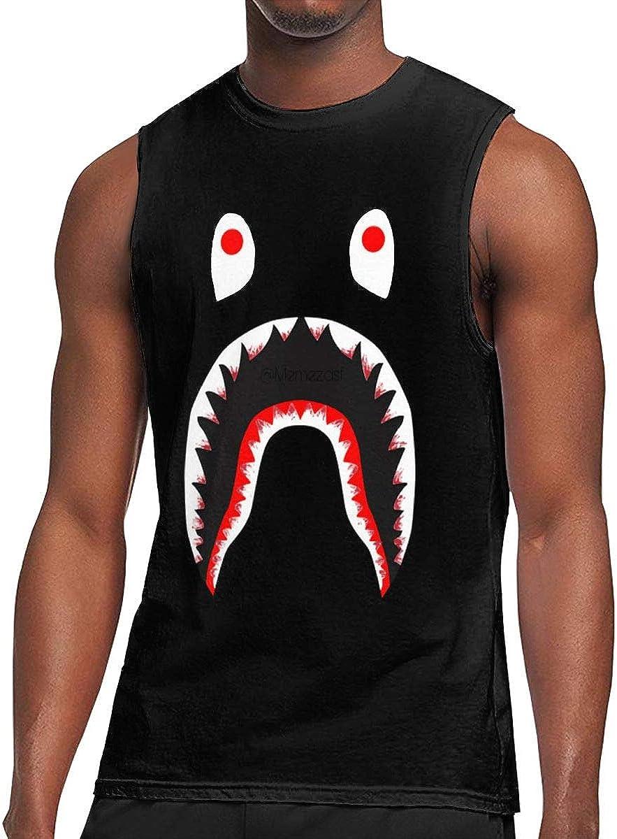Bape Blood Shark T Shirt Man Ultra Cotton Tee Sleeveless T Shirt Fashion Top Tank Top Tee